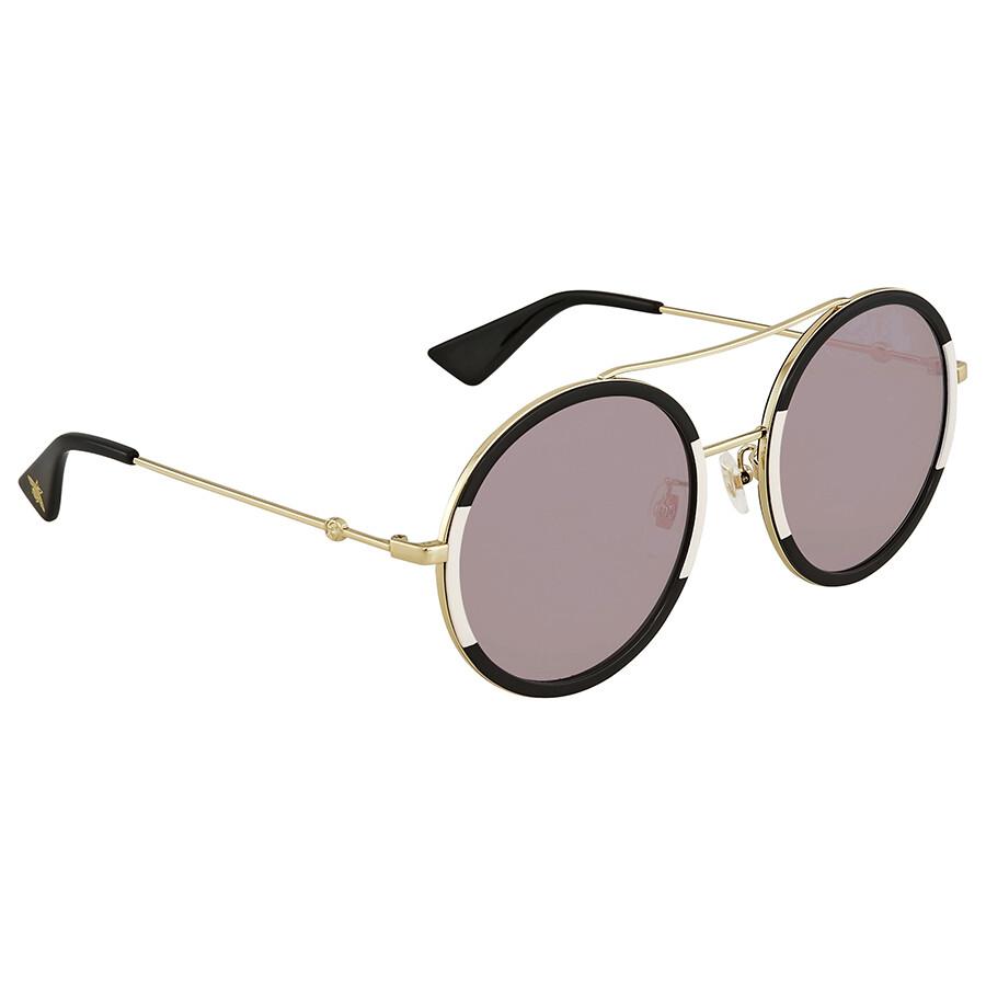 5e1fe34ccd Gucci Pink Round Ladies Sunglasses GG0061S 006 56 - Gucci ...