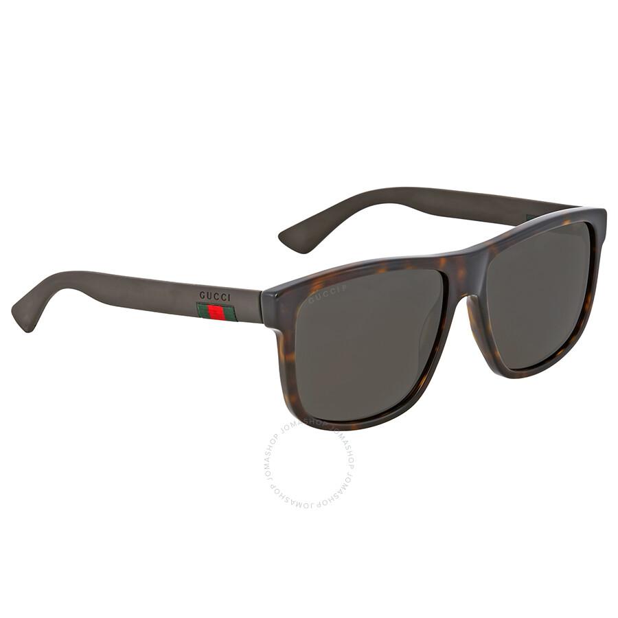 0c223d2a09 Gucci Polarized Grey Square Sunglasses - Gucci - Sunglasses - Jomashop