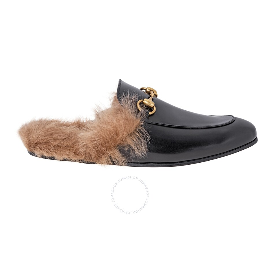 c6f79097f24974 Gucci Princetown Leather Slipper- Size  5.5 Item No. 397647 DKHH0 1063 55