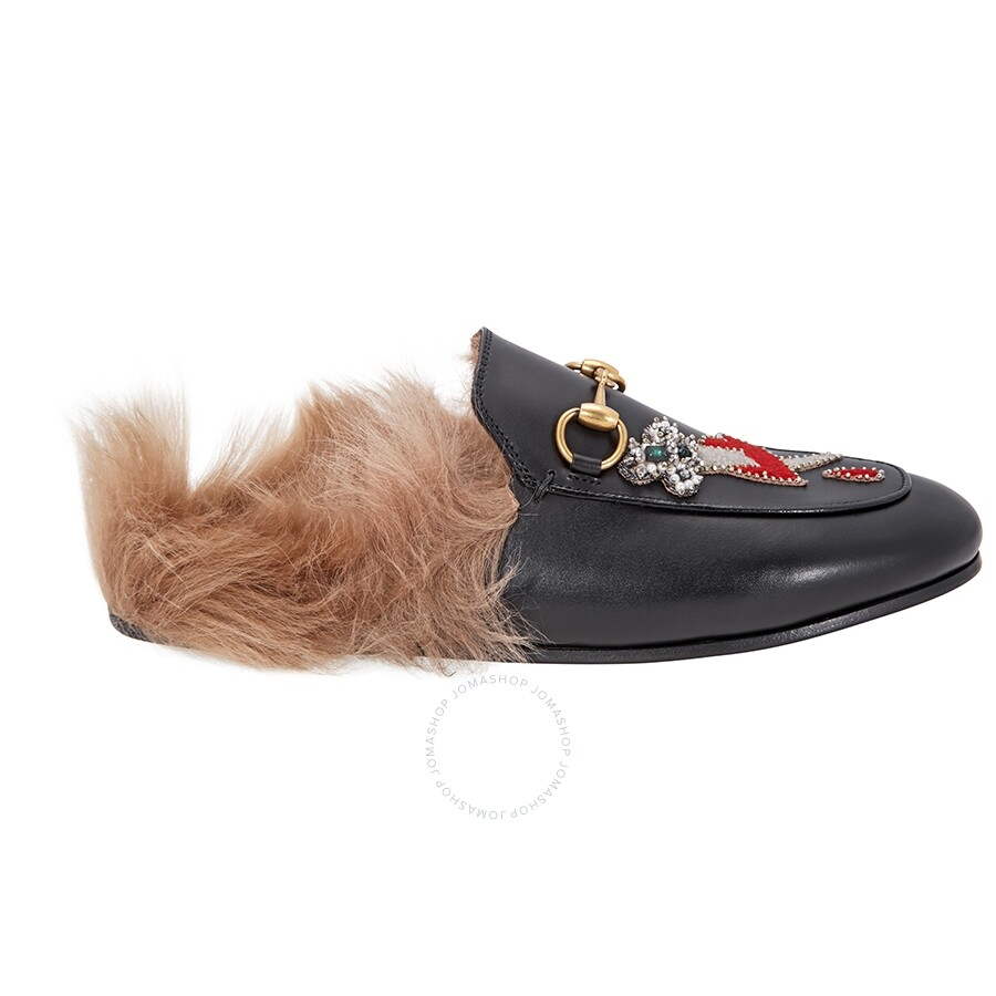 e0574df3e Gucci Princetown Pierced Heart Slippers - Shoes - Fashion & Apparel ...