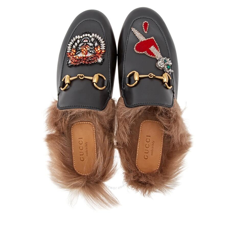 38376dd65 Gucci Princetown Pierced Heart Slippers - Shoes - Fashion   Apparel ...