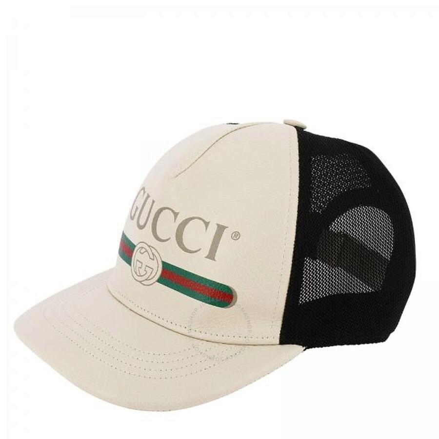 b5cc1b4058e84 Gucci Print Leather Baseball Hat - Apparel - Fashion   Apparel ...