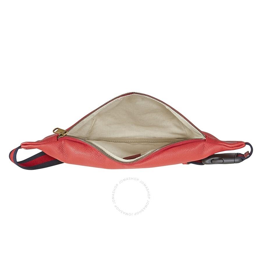 8c9598e5c Gucci Print Leather Belt Bag- Red - Gucci - Handbags - Jomashop