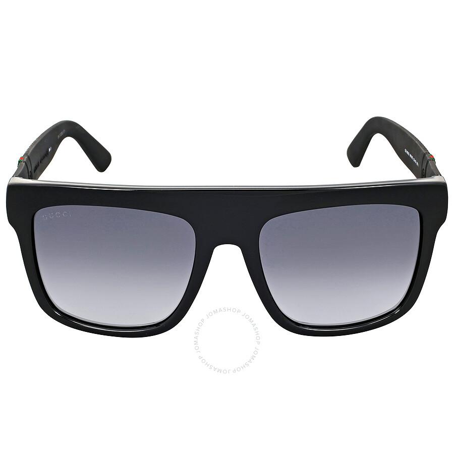ed1756c733a Gucci Rectangle Dark Grey Gradient Men s Sunglasses GG1116 SM1V90 ...