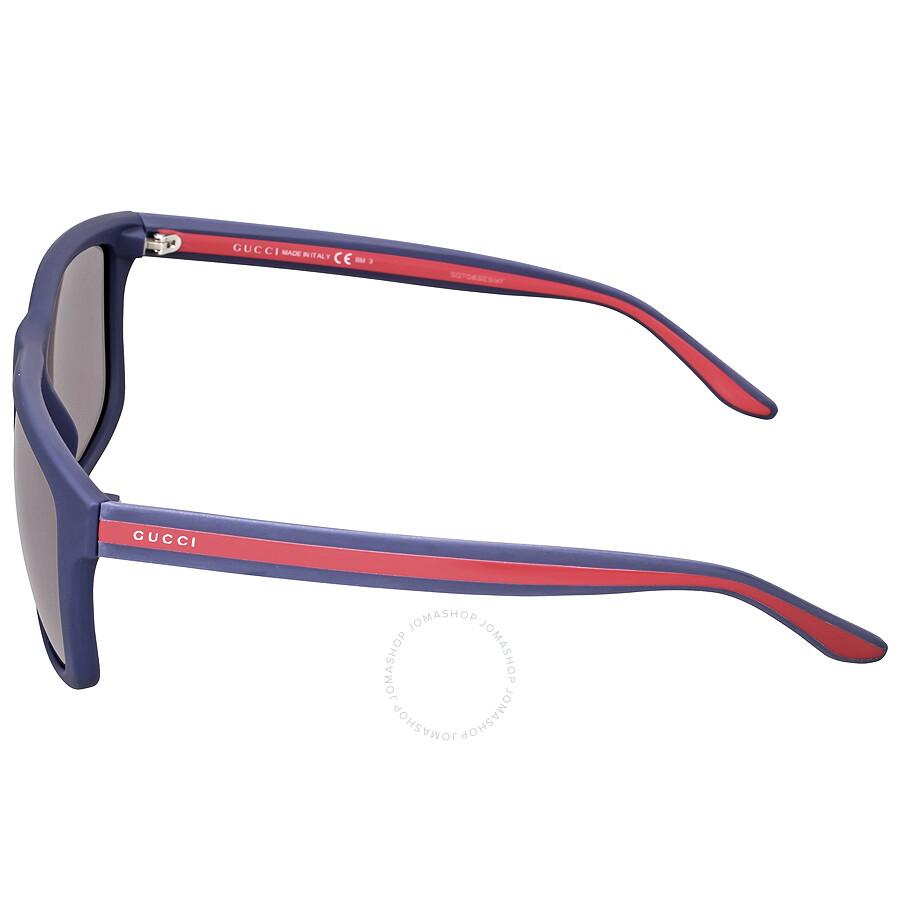 00679b5d8f0 ... Gucci Rectangle Frame Web Grey Men s Sunglasses GG 1118   M18 Y1 ...