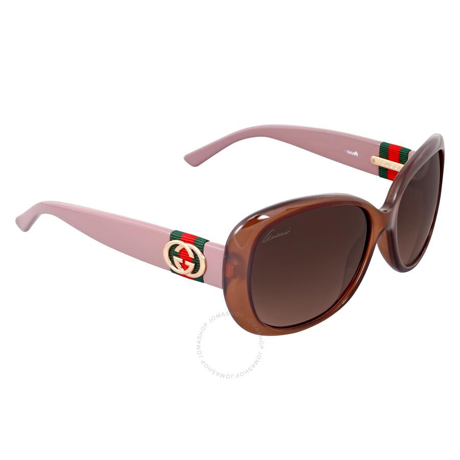 38c023a54bf ... Gucci Rectangle Hazelnut Mauve Ladies Sunglasses GG 3644   0YF J6 ...