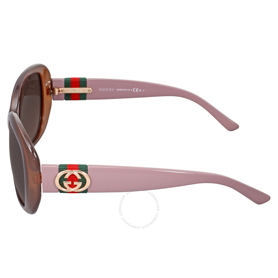 4afcab6be ... Gucci Rectangle Hazelnut Mauve Ladies Sunglasses GG 3644 / 0YF J6
