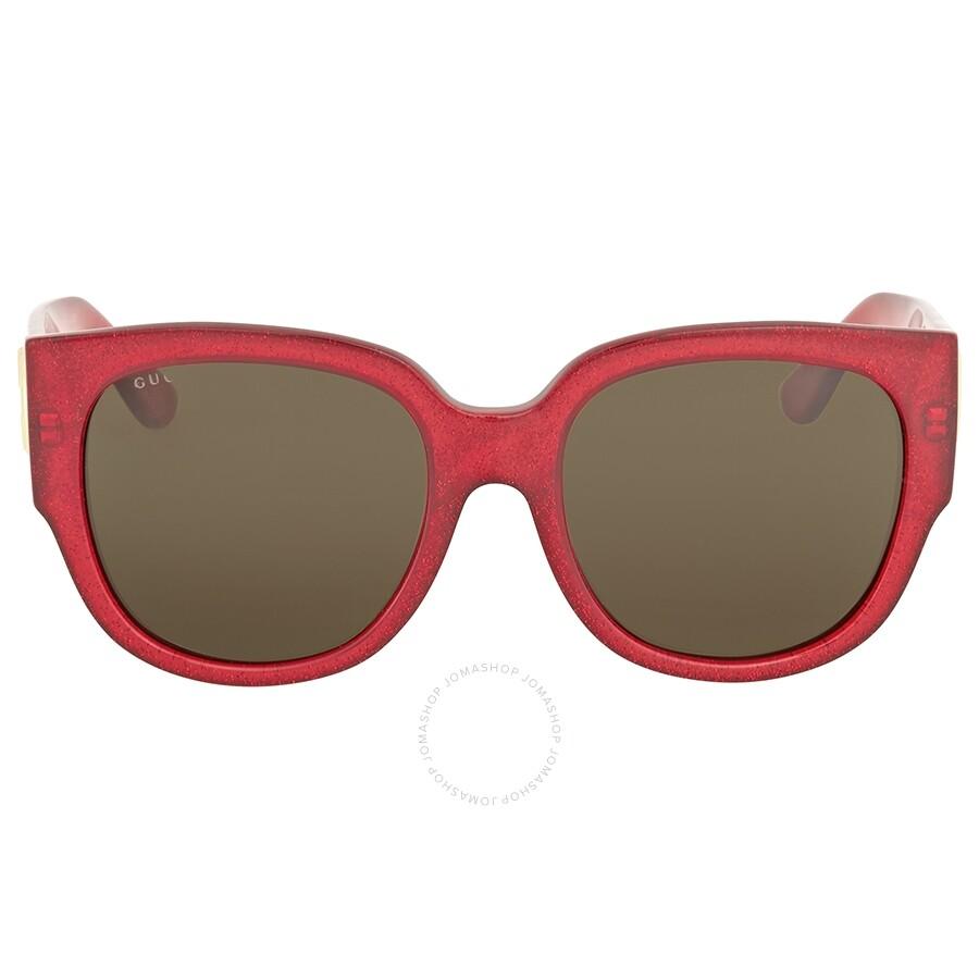 92ff1b4bf Oversized Square Frame Sunglasses Source · Gucci Red Glitter Square  Sunglasses Gucci Sunglasses Jomashop