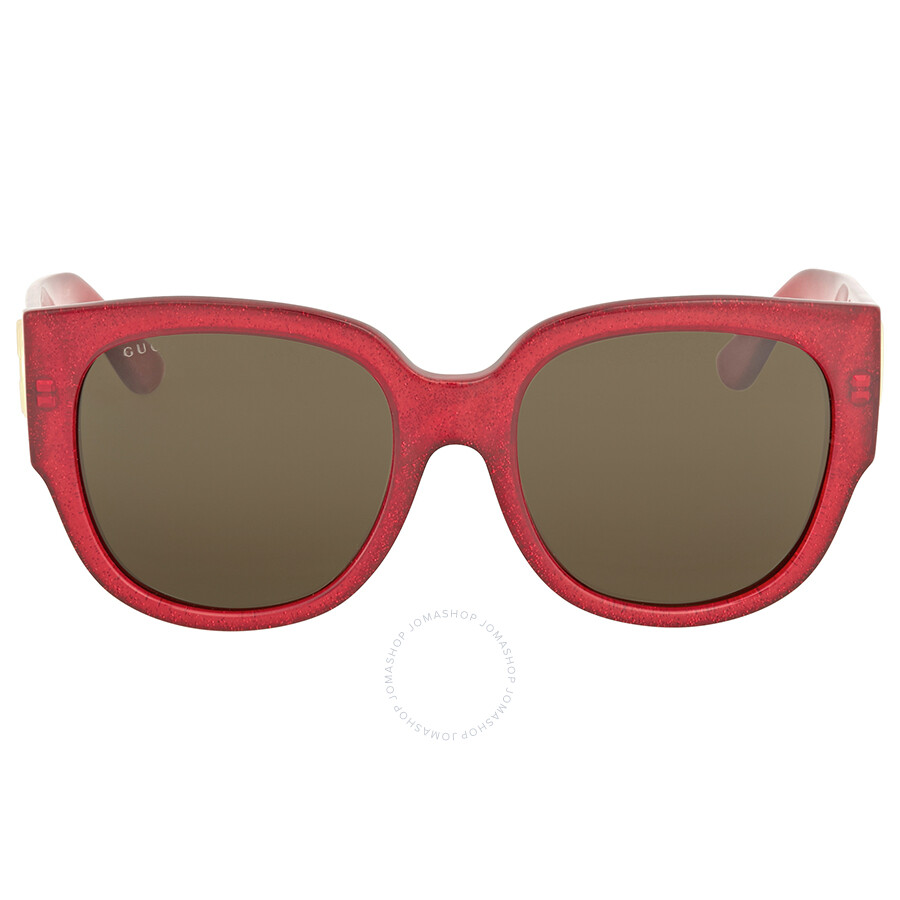 70e9b18bc71 Gucci Red Glitter Square Sunglasses - Gucci - Sunglasses - Jomashop