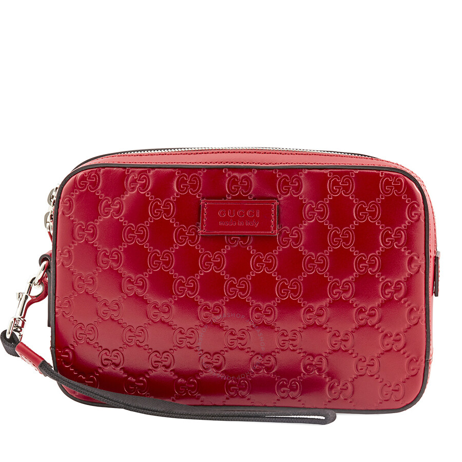 2b64157050 Gucci Red Leather Pouch