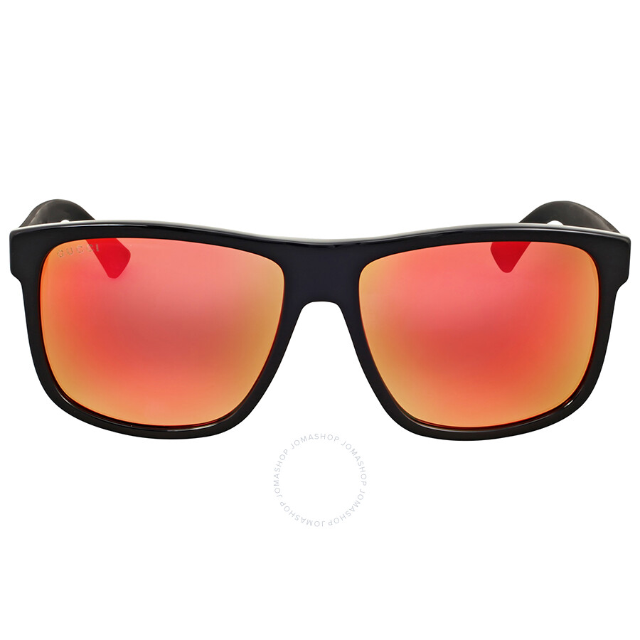 gucci 0010s. gucci red mirror square sunglasses 0010s