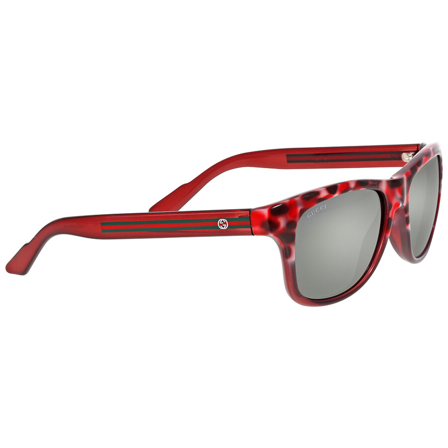 51f89ac493362 Gucci Red Tortoise Mirror Light Grey Flash Sunglasses - Gucci ...