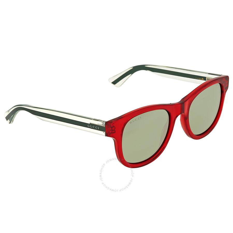 eff8e5e154d Gucci Red Transparent Square Sunglasses - Gucci - Sunglasses - Jomashop