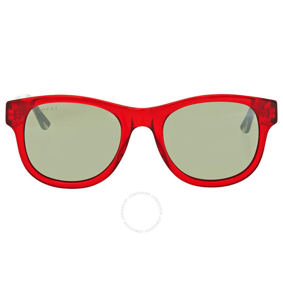 ac7fc61d756 Gucci Red Transparent Square Sunglasses Gucci Red Transparent Square  Sunglasses ...