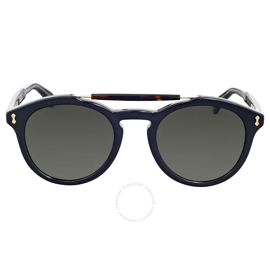 0636ce0e73 Gucci Round Black Sunglasses - Gucci - Sunglasses - Jomashop