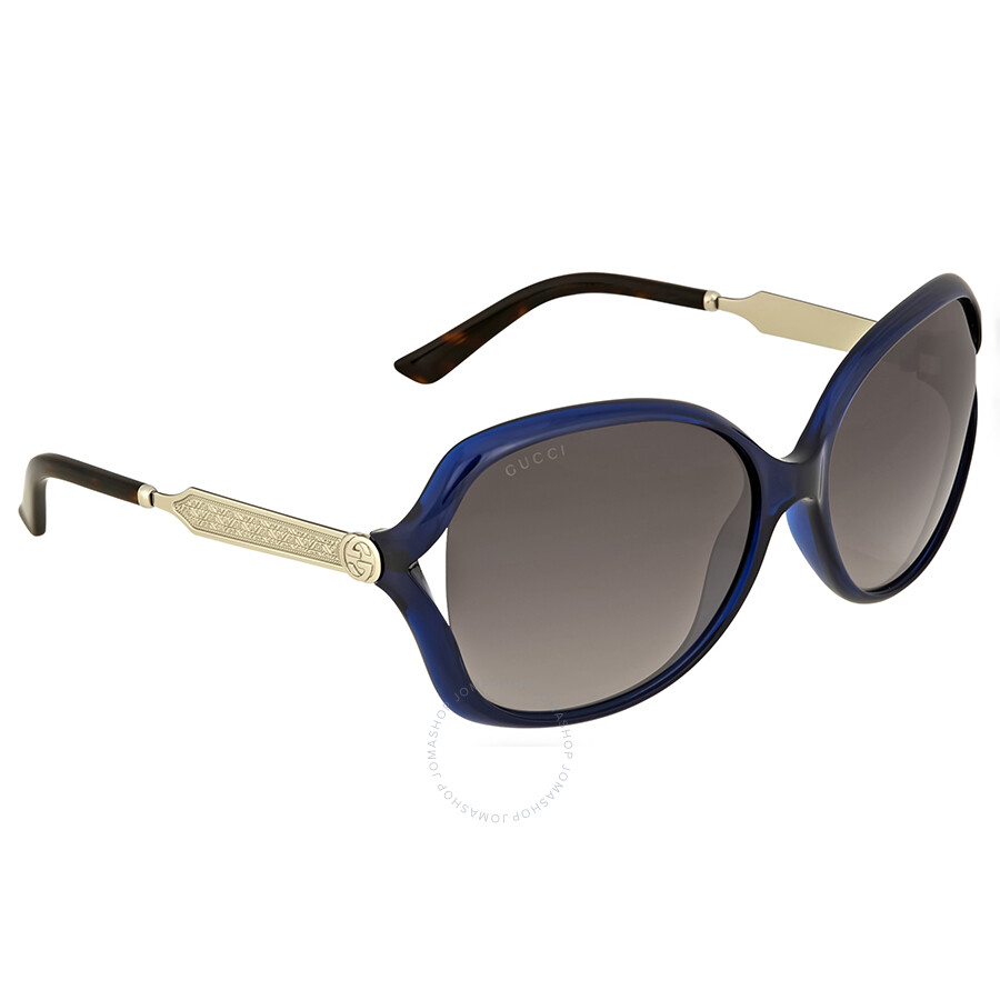 d97897c035654 Gucci Round Blue Sunglasses - Gucci - Sunglasses - Jomashop