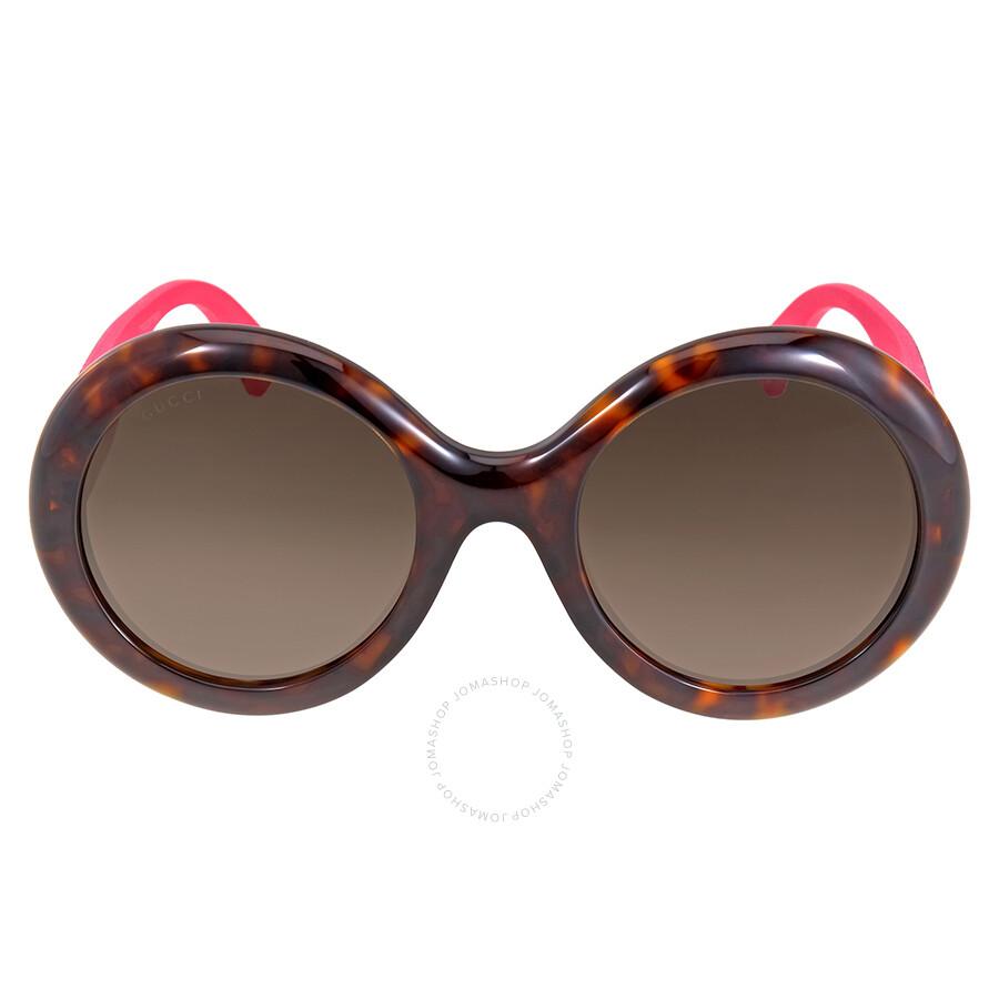 c62a93c339c Gucci Round Glitter Pink Sunglasses - Gucci - Sunglasses - Jomashop