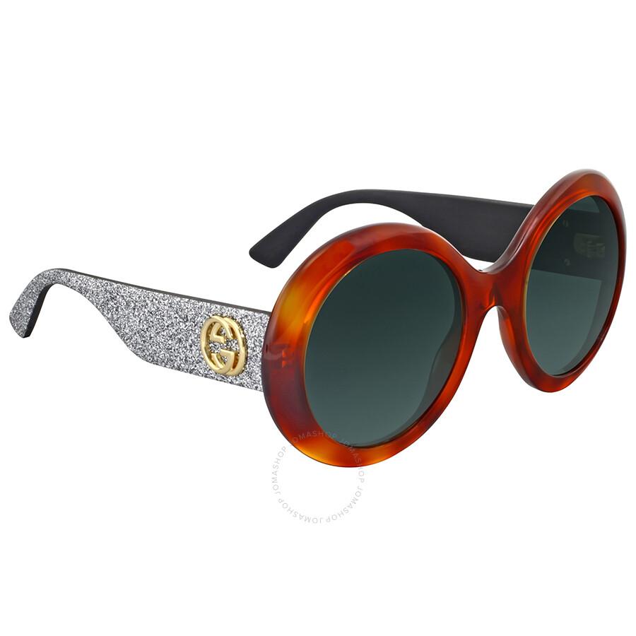 cd4352b268c Gucci Round Glitter Sunglasses - Gucci - Sunglasses - Jomashop