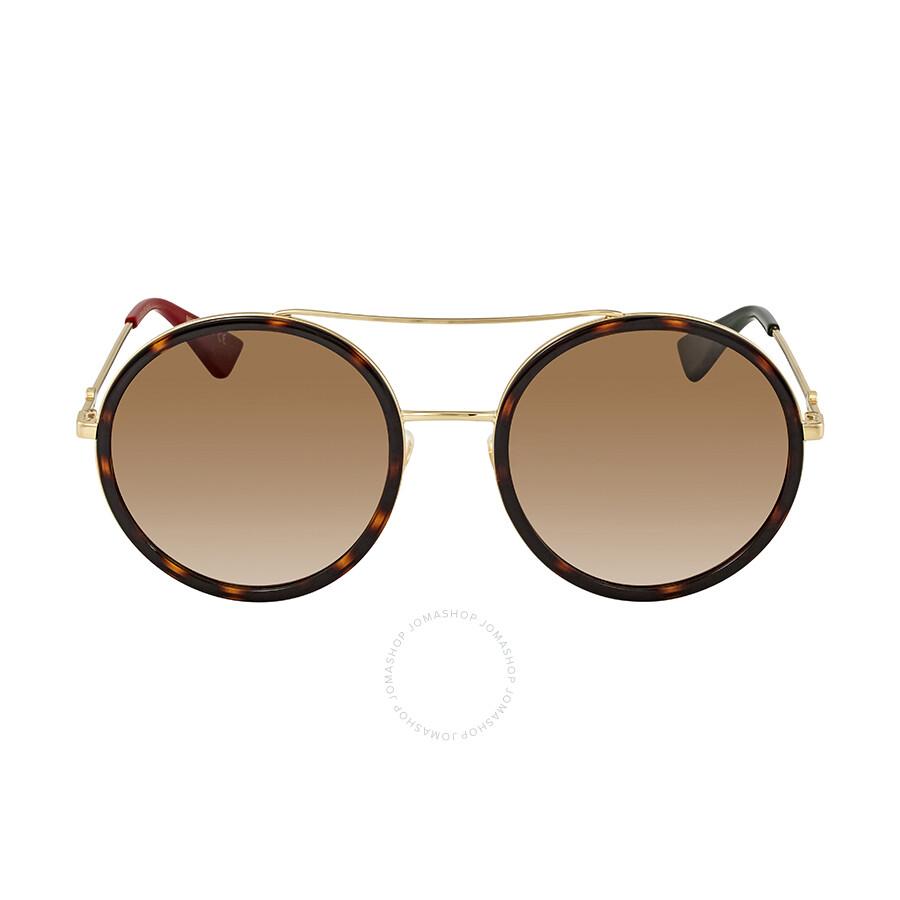 1e7f19851a7 Gucci Round Havana Ladies Sunglasses GG0061S 013 56 - Gucci ...