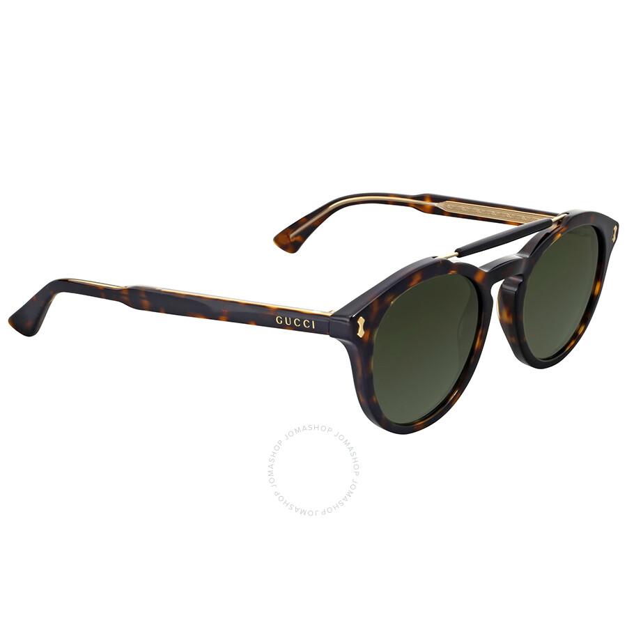 9c851b0724 Gucci Round Havana Sunglasses - Gucci - Sunglasses - Jomashop