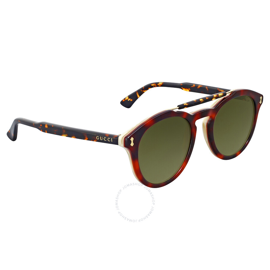fdbfdbce8f8b Gucci Round Havana Sunglasses - Gucci - Sunglasses - Jomashop