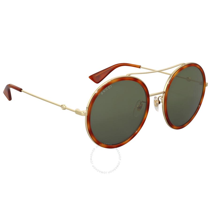 fefebcb97b0 Gucci Round Metal Havana Sunglasses - Gucci - Sunglasses - Jomashop