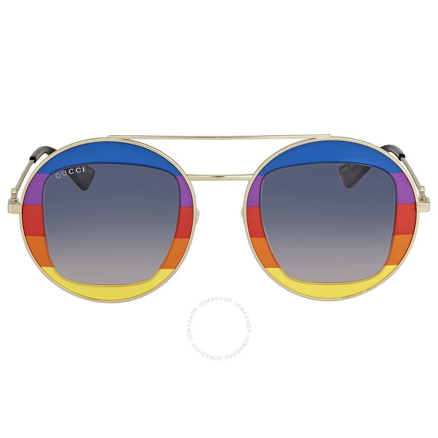 445f96c712 Gucci Round Multicolor Sunglasses - Gucci - Sunglasses - Jomashop
