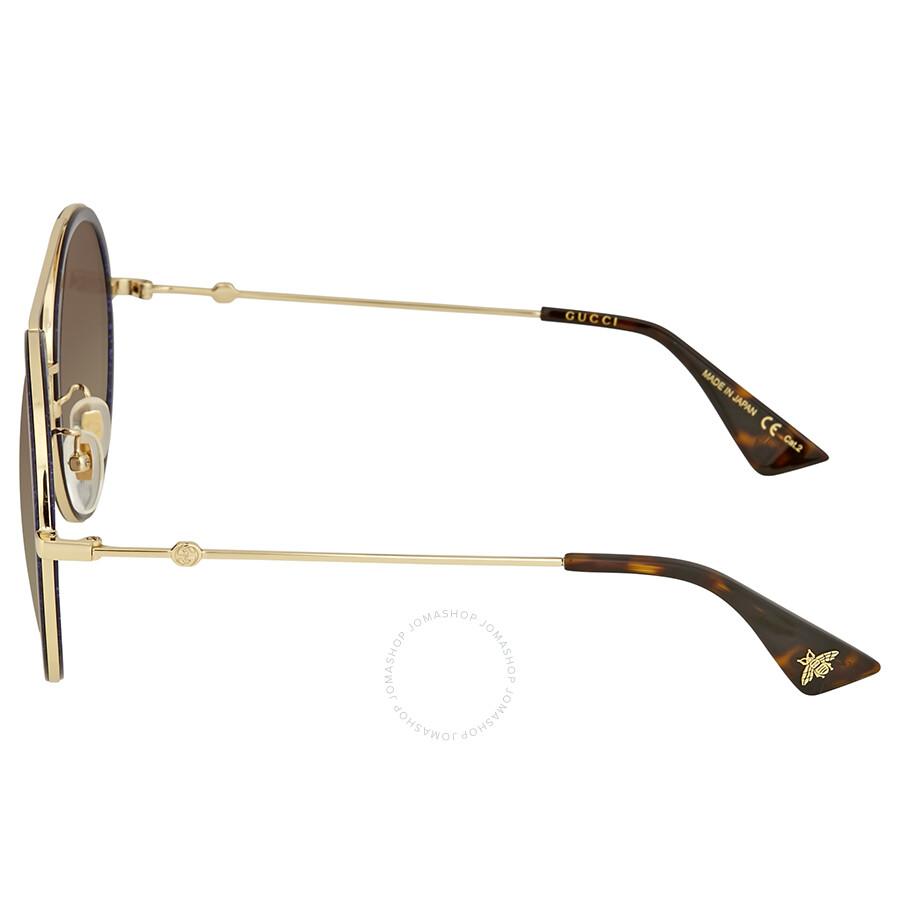 f04620f5b96 Gucci Round Navy Sparkle Sunglasses - Gucci - Sunglasses - Jomashop