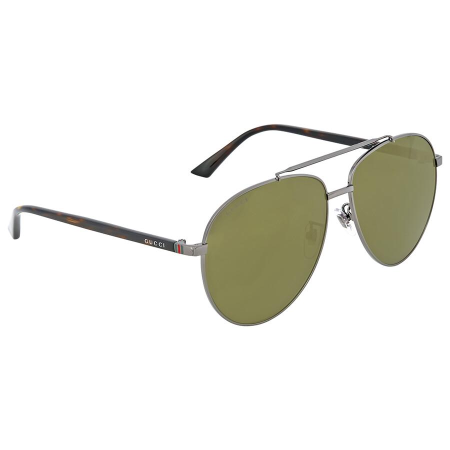 777c5fdf3174f Gucci Ruthenium Aviator Sunglasses - Gucci - Sunglasses - Jomashop