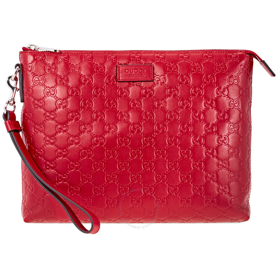 f9d7ba12fbb5 Gucci Signature Soft Men's Bag- Red - Gucci - Handbags - Jomashop