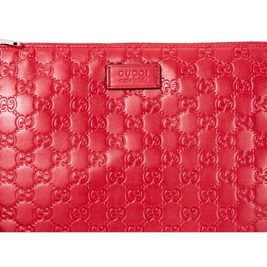 8ad93a5f572 Gucci Signature Soft Men's Bag- Red - Gucci - Handbags - Jomashop