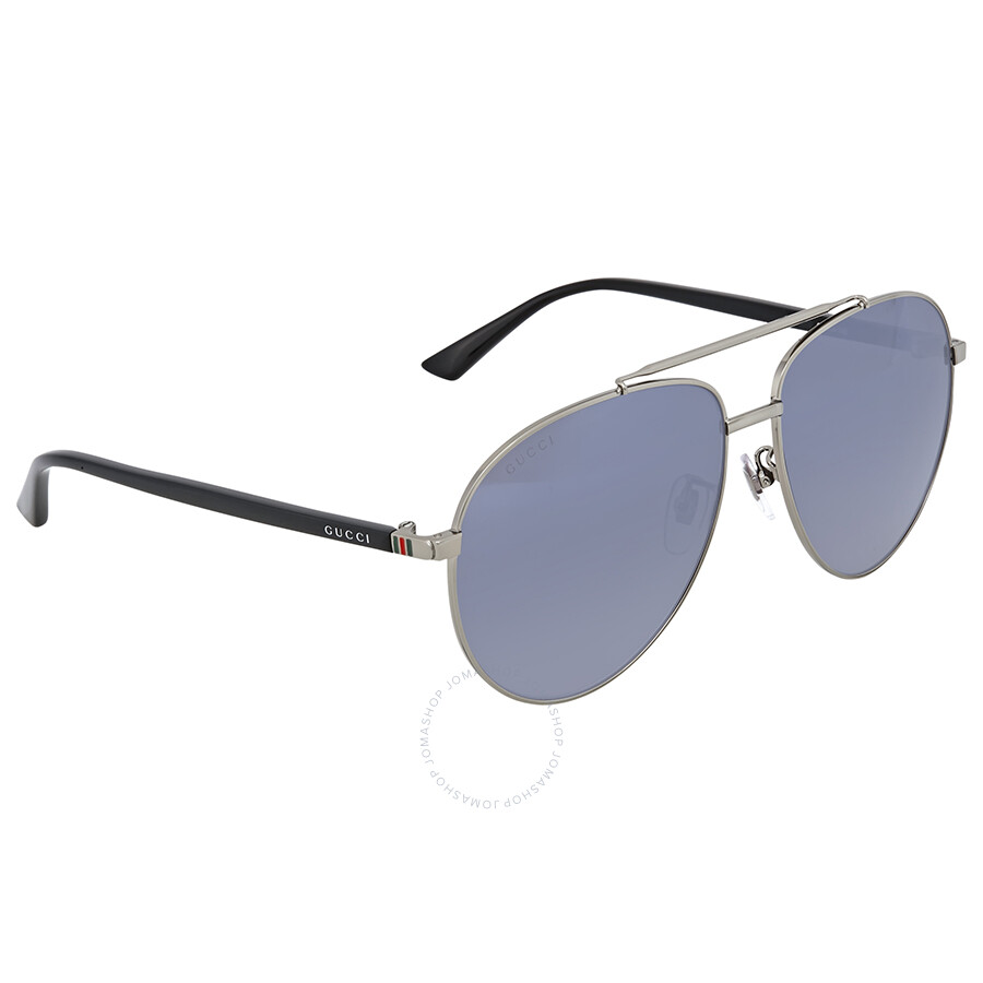 57a6e9b0afe Gucci Silver Aviator Sunglasses - Gucci - Sunglasses - Jomashop