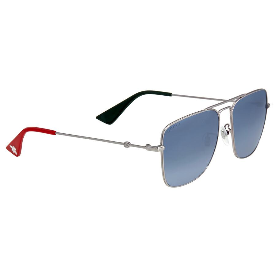 5ecfc408ea1 Gucci Silver Square Sunglasses - Gucci - Sunglasses - Jomashop