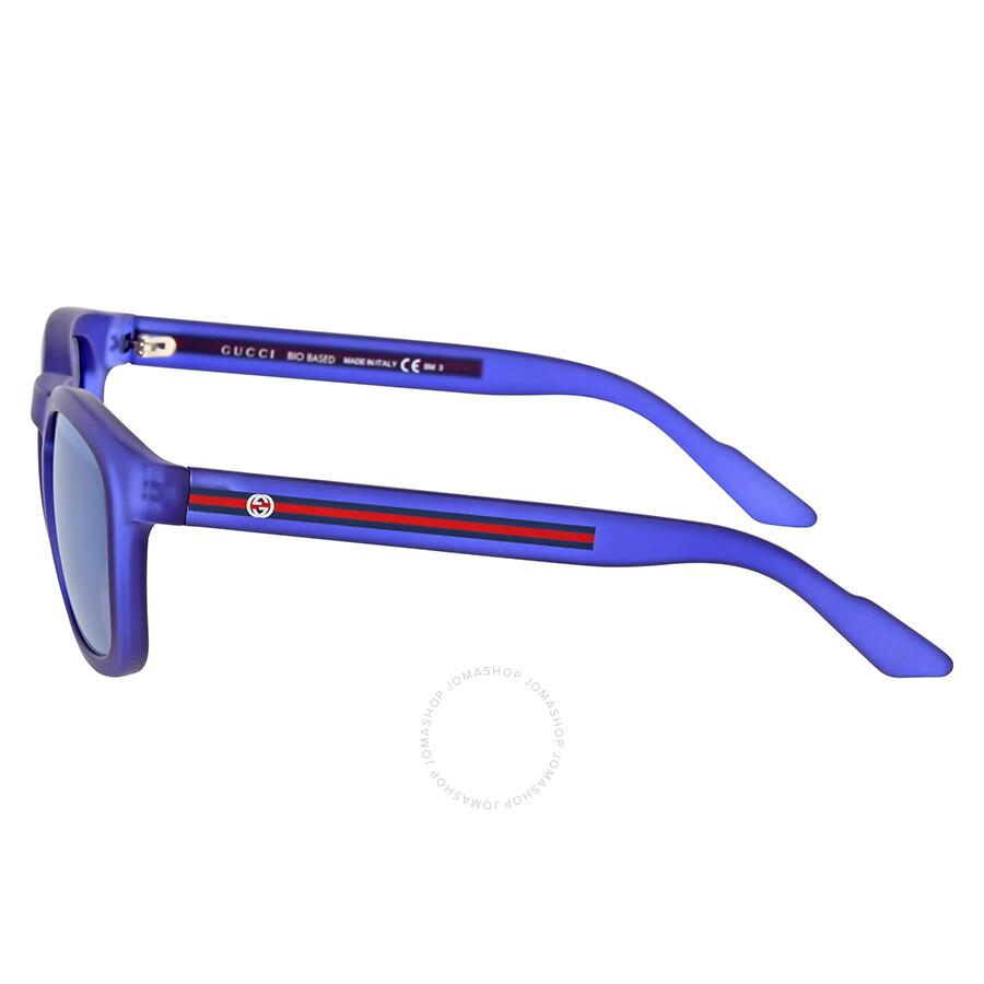 5860a642bd1 Gucci Square Blue Mirror Sunglasses Gucci Square Blue Mirror Sunglasses ...