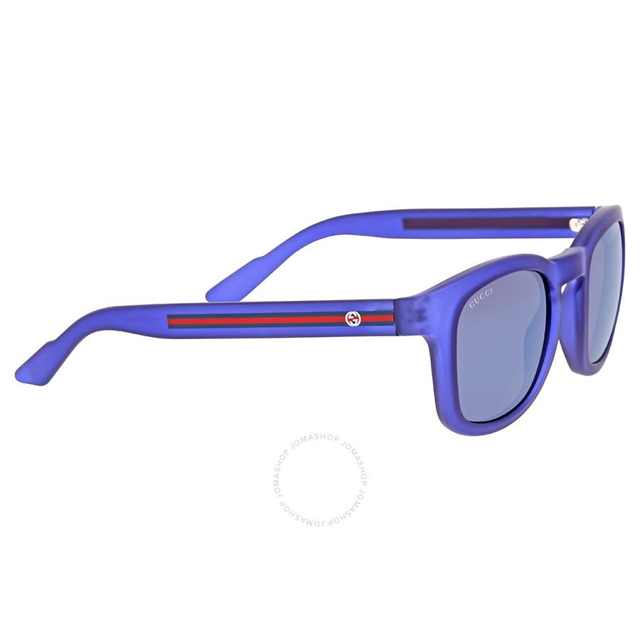 7422ff363e Gucci Square Blue Mirror Sunglasses - Gucci - Sunglasses - Jomashop