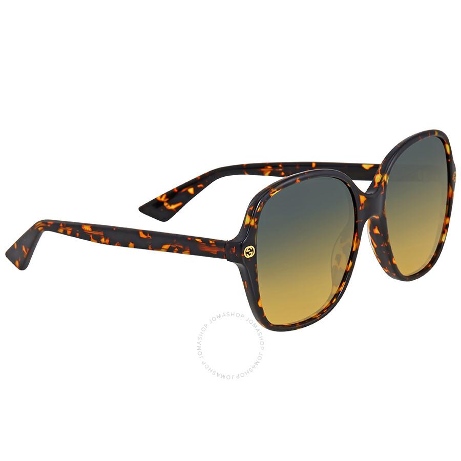 df3561847b3 Gucci Square Havana Sunglasses - Gucci - Sunglasses - Jomashop