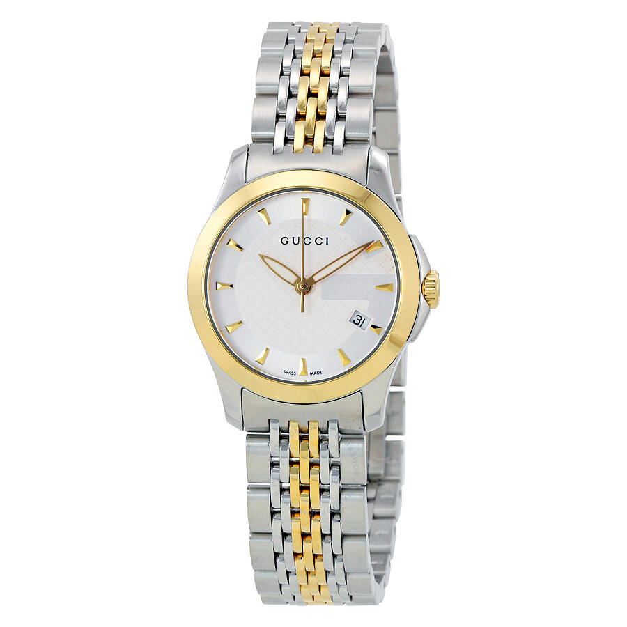444651fbc86 Gucci Swiss G-Timeless Silver Dial Ladies Watch YA126511 - G ...
