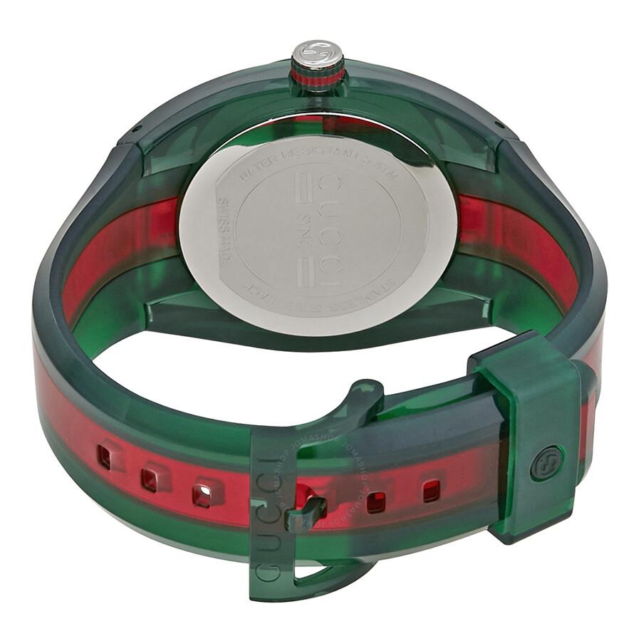 c25294ea4f6 Gucci Sync Green Dial Men s Two Tone Rubber Watch YA137113 - Gucci ...
