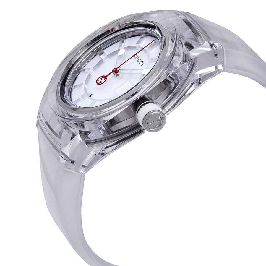 gucci sync white dial mens watch ya137110 gucci