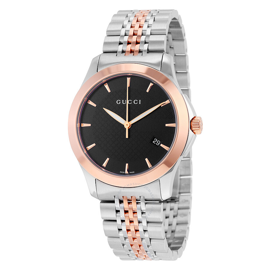 a18ee4c48ba Gucci Timeless Rose Gold PVD Men s Watch YA126410 - G-Timeless ...