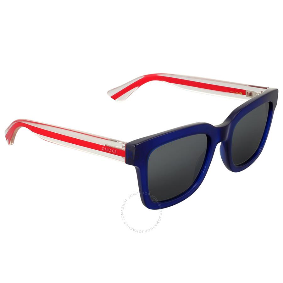 f1ba1d2f5f1 Gucci Transparent Blue Square Sunglasses - Gucci - Sunglasses - Jomashop