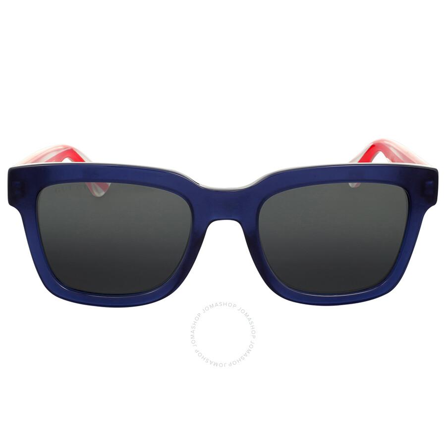 68c1555c508 Gucci Transparent Blue Square Sunglasses Gucci Transparent Blue Square  Sunglasses ...