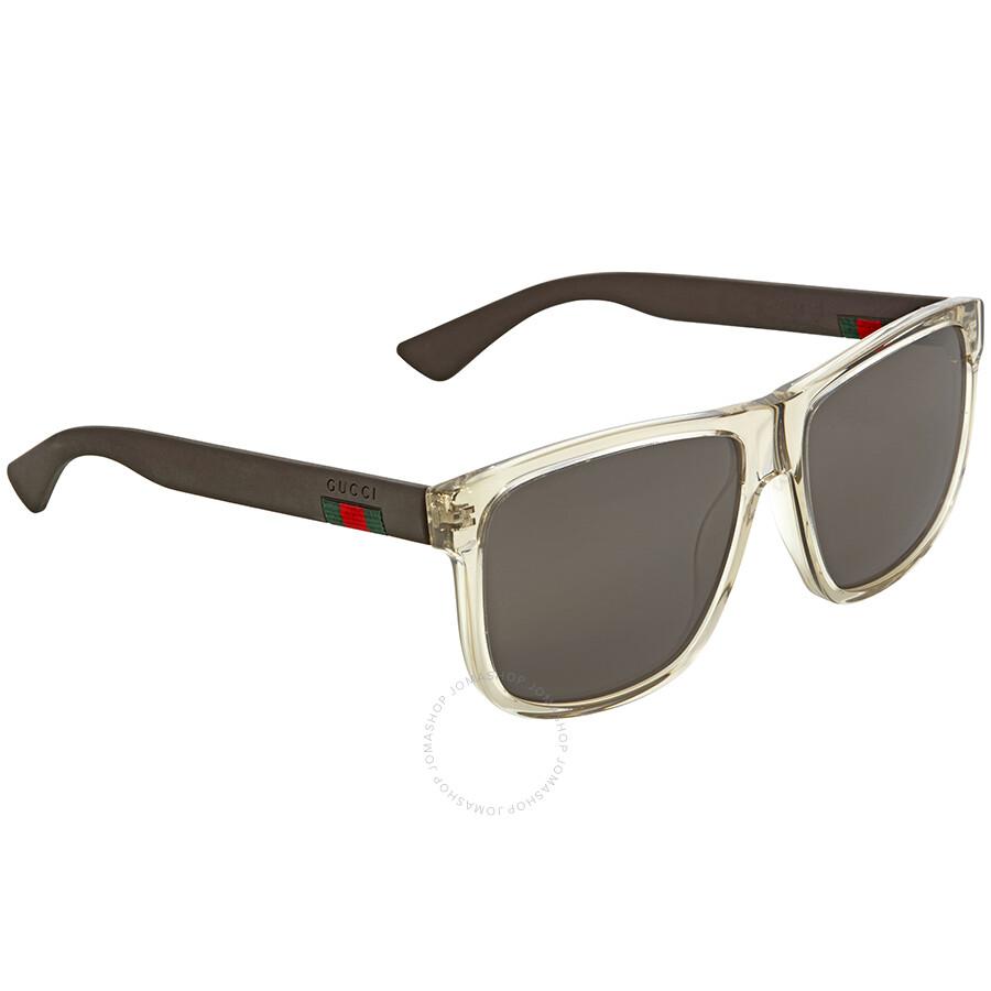 c382858f9b8 Gucci Transparent Square Sunglasses - Gucci - Sunglasses - Jomashop