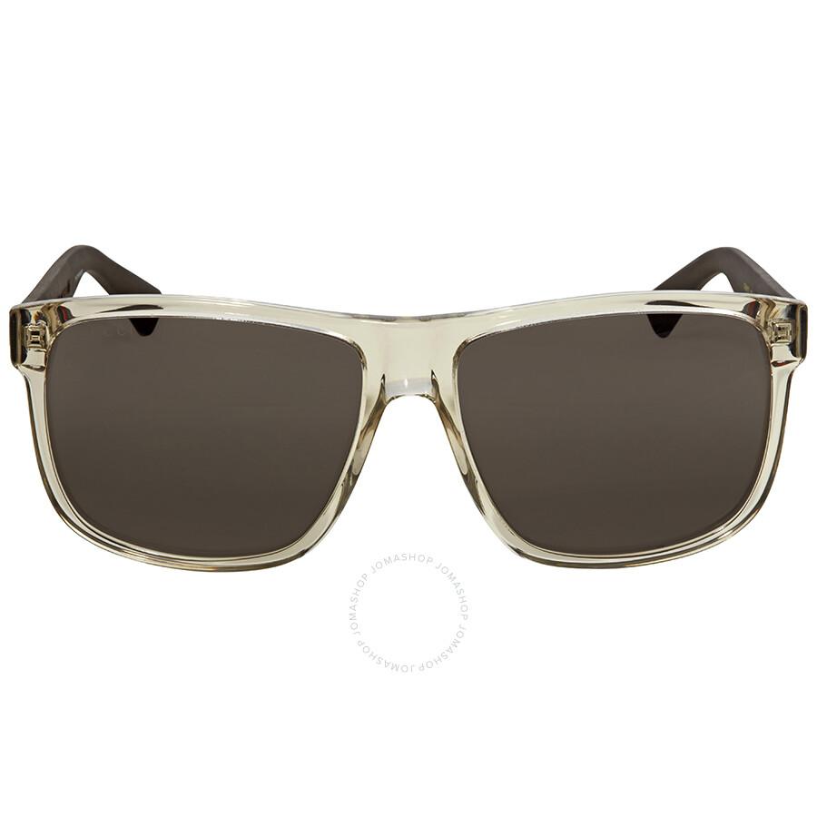 ca44fce860c Gucci Transparent Square Sunglasses Gucci Transparent Square Sunglasses ...