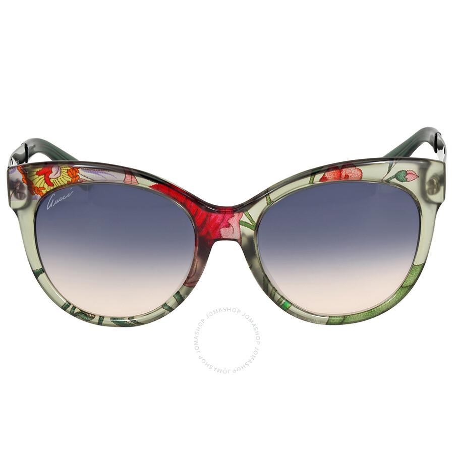 945f1ec1b2cc0 Gucci Trasparent Floral Cat Eye Sunglasses - Gucci - Sunglasses ...