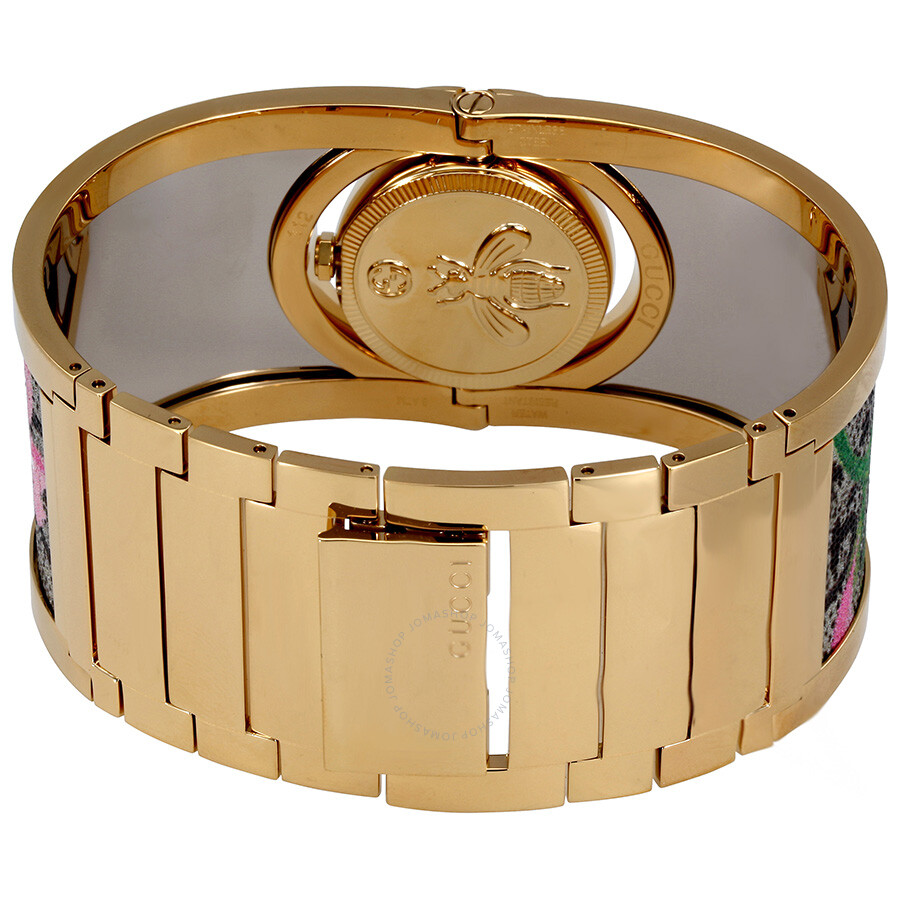 f16f84930707a ... Gucci Twirl Bloom Gold Twirling Dial Gold-plated and Floral Ladies  Watch YA112443
