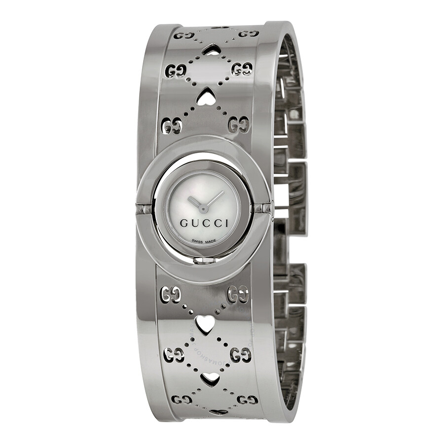 48036c583d7 Gucci Twirl Ladies Small Stainless Steel GG Heart Watch YA112523 ...