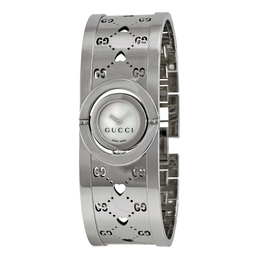 226689461b6 Gucci Twirl Ladies Small Stainless Steel GG Heart Watch YA112523 ...