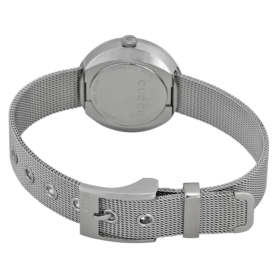 dd9bf8ba009 ... Gucci U-Play Diamond Mother of Pearl Dial Stainless Steel Mesh Ladies  Watch YA129517 ...