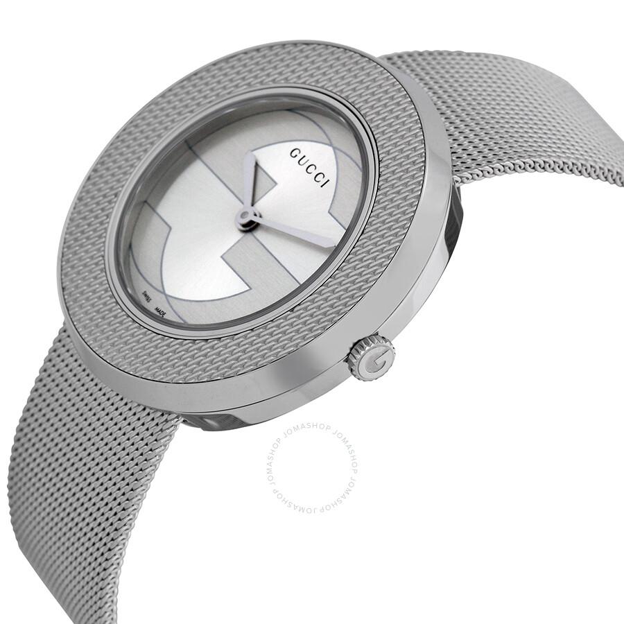 75b011c3848 Gucci U-play Silver Ladies Watch YA129407 - U-Play - Gucci - Watches ...